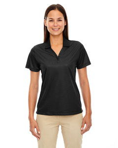 Black 703 Eperformance™ Ladies' Launch Snag Protection Striped Polo
