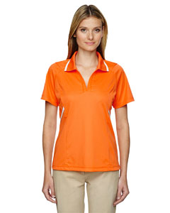 Amber Orange 477 Eperformance™ Ladies' Propel Interlock Polo with Contrast Tape