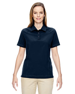 Navy 007 Ladies' Excursion Crosscheck Woven Polo