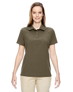 Drk Oakmoss 487 Ladies' Excursion Crosscheck Woven Polo