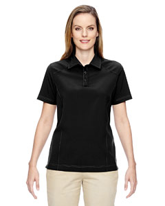 Black 703 Ladies' Excursion Crosscheck Woven Polo