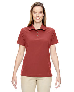 Rust 489 Ladies' Excursion Crosscheck Woven Polo