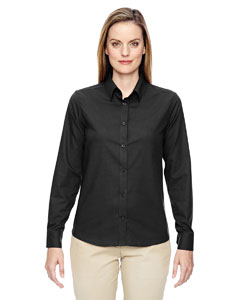 Black 703 Ladies' Paramount Wrinkle-Resistant Cotton Blend Twill Checkered Shirt