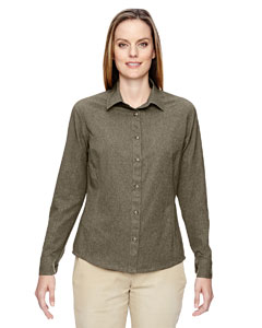 Dk Oakmoss 487 Ladies' Excursion Utility Two-Tone Performance Shirt