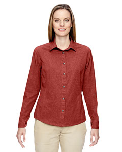 Rust 489 Ladies' Excursion Utility Two-Tone Performance Shirt