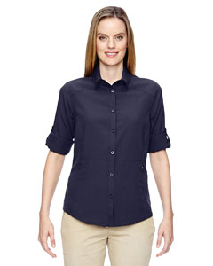 Navy 007 Ladies' Excursion Concourse Performance Shirt