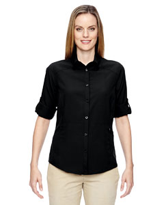 Black 703 Ladies' Excursion Concourse Performance Shirt