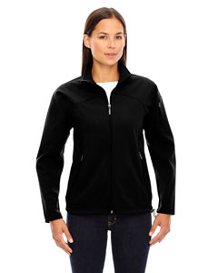 Black 703 Ladies' Three-Layer Fleece Bonded Performance Soft Shell Jacket
