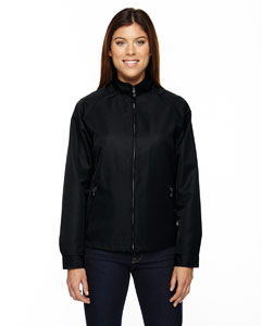 Black 703 Ladies' Mid-Length Micro Twill Jacket