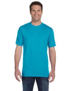 Caribbean Blue Ringspun Midweight T-Shirt