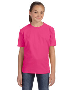 Hot Pink Youth Ringspun Midweight T-Shirt