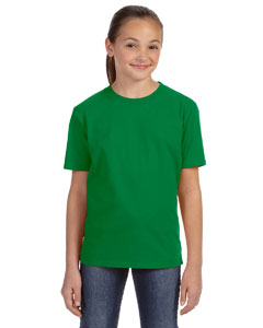 Kelly Green Youth Ringspun Midweight T-Shirt