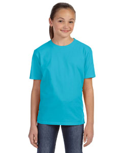 Pool Blue Youth Ringspun Midweight T-Shirt