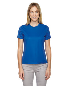 True Royal 438 Ladies' Pace Performance Piqué Crew Neck