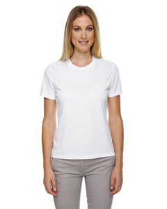 White 701 Ladies' Pace Performance Piqué Crew Neck