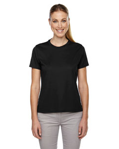 Black 703 Ladies' Pace Performance Piqué Crew Neck