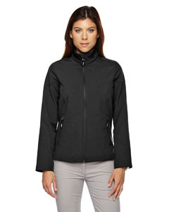 Black 703 Ladies' Cruise Two-Layer Fleece Bonded Soft Shell Jacket