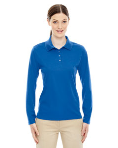 True Royal 438 Ladies' Pinnacle Performance Long-Sleeve Piqué Polo
