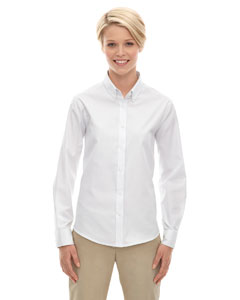 White 701 Ladies' Operate Long-Sleeve Twill Shirt