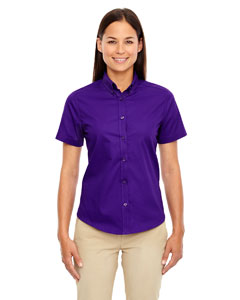 Campus Prple 427 Ladies' Optimum Short-Sleeve Twill Shirt