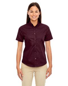 Burgundy 060 Ladies' Optimum Short-Sleeve Twill Shirt
