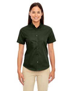 Forest Gren 630 Ladies' Optimum Short-Sleeve Twill Shirt