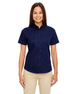 Classic Navy 849 Ladies' Optimum Short-Sleeve Twill Shirt