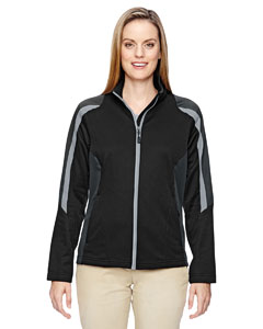 Black 703 Ladies' Strike Colorblock Fleece Jacket