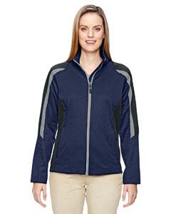 Classic Navy 849 Ladies' Strike Colorblock Fleece Jacket