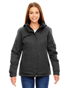 Carbon 456 Ladies' Rivet Textured Twill Insulated Jacket