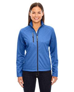 Nauticl Blue 413 Ladies' Trace Printed Fleece Jacket