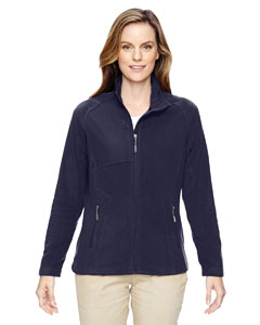Navy 007 Ladies' Excursion Trail Fabric-Block Fleece Jacket