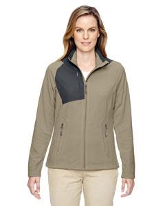 Stone 019 Ladies' Excursion Trail Fabric-Block Fleece Jacket