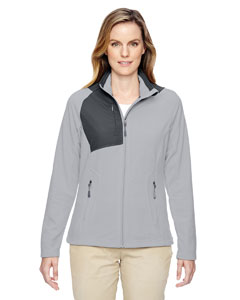 Silver 674 Ladies' Excursion Trail Fabric-Block Fleece Jacket