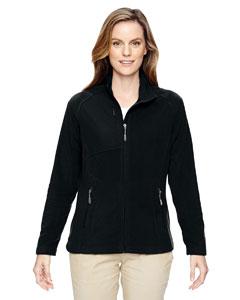 Black 703 Ladies' Excursion Trail Fabric-Block Fleece Jacket