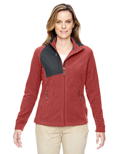Rust 489 Ladies' Excursion Trail Fabric-Block Fleece Jacket