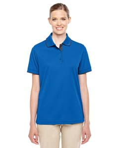 Tr Roy/ Crbn 438 Ladies' Motive Performance Pique Polo with Tipped Collar