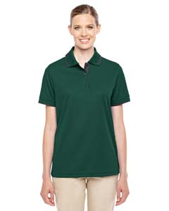 Forest/ Crbn 630 Ladies' Motive Performance Pique Polo with Tipped Collar