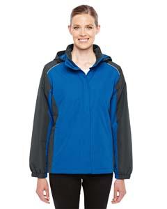 Tr Roy/ Crbn 438 Ladies' Inspire Colorblock All-Season Jacket
