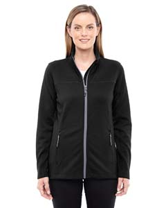 Blck/ Grphte 703 Ladies' Torrent Interactive Textured Performance Fleece Jacket