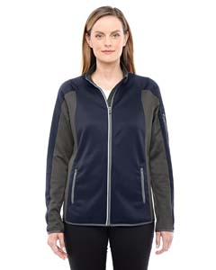 Navy/ Dk Grp 007 Ladies' Motion Interactive ColorBlock Performance Fleece Jacket