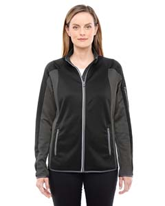 Blck/ Dk Grp 703 Ladies' Motion Interactive ColorBlock Performance Fleece Jacket