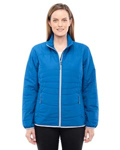 Nau Blu/ Plt 413 Ladies' Resolve Interactive Insulated Packable Jacket