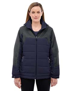 Nvy/dk Gr Ht 007 Ladies' Excursion Meridian Insulated Jacket with Melange Print