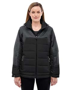 Blk/dk Gr Ht 703 Ladies' Excursion Meridian Insulated Jacket with Melange Print