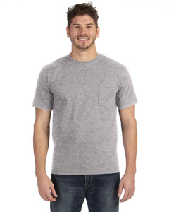 Heather Grey Heavyweight Ringspun Pocket T-Shirt