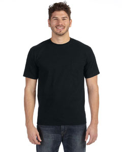 Black Heavyweight Ringspun Pocket T-Shirt