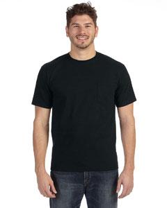 Black Heavyweight Ringspun Pocket T-Shirt