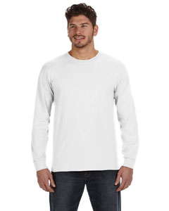 White Ringspun Heavyweight Long-Sleeve T-Shirt