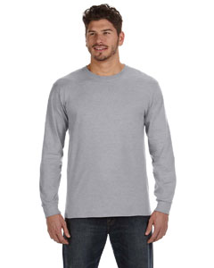 Heather Grey Ringspun Heavyweight Long-Sleeve T-Shirt
